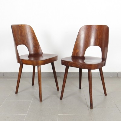 Pair of Oswald Haerdtl dining chairs, 1960s