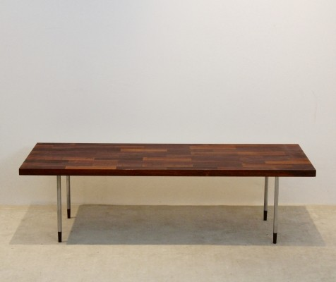 Teak & Stainless Steel Coffee Table for Fristho by Rudolf Bernd Glatzel, 1960s