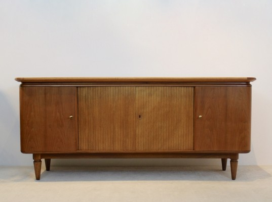 Curved Art Deco Sideboard in teak, Dutch design