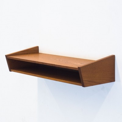 Vintage teak floating wall shelf