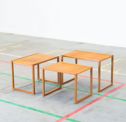Set of 3 Model 133 nesting tables by Kai Kristiansen for Vildbjerg Møbelfabrik, 1960s