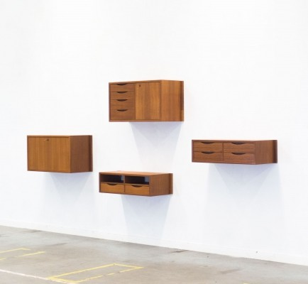 4 x Veggen Deluxe wall unit by Torbjørn Afdal & Rolf Hesland for Bruksbo Norway, 1960s