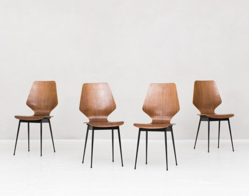 Set of 4 dining chairs, Italy 1950