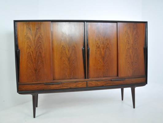 Highboard in Rosewood by Omann Jun, Denmark 1950s