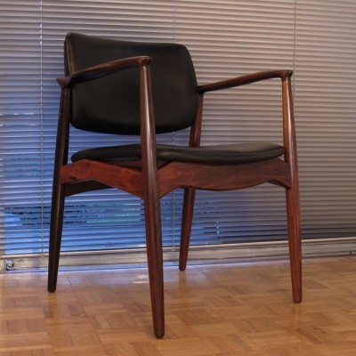 Erik Buch Model 67 Rosewood & Leather Armchair