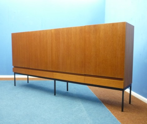 B60 Teak Highboard by Dieter Wäckerlin for Behr, 1950s