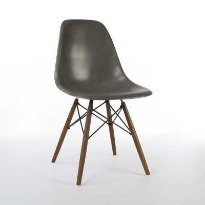 Elephant Grey Herman Miller Original Eames DSW Side Shell Chair