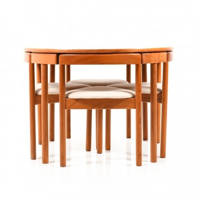 Danish Dining Set in Teak by A. B. J. Denmark