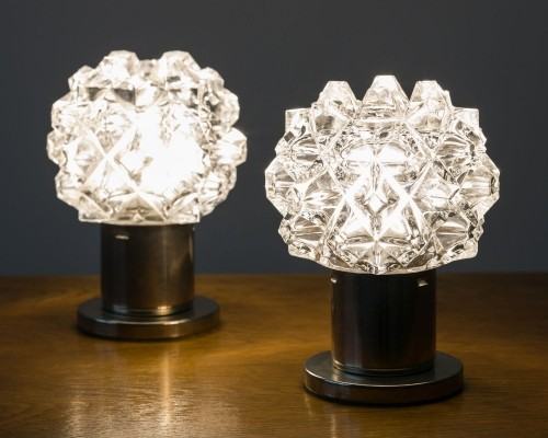 Set of 2 starry table lamps, 70's