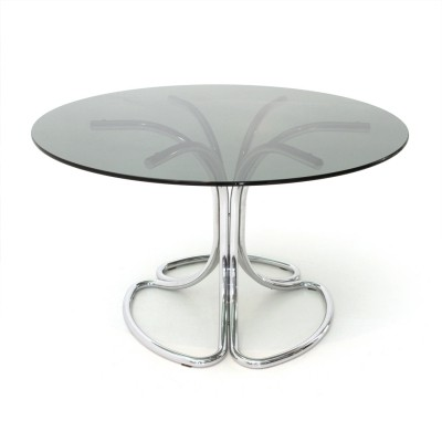 Italian Mid-century dining table with chromed legs, 1970s