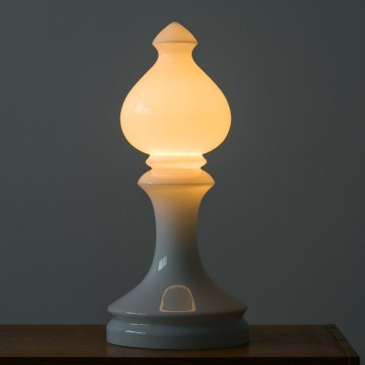 Chess bishop table lamp by Ivan Jakeš, 70's
