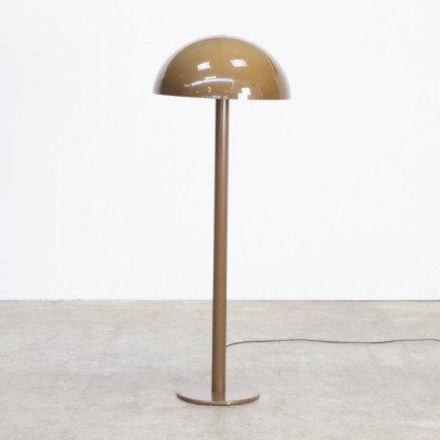 70s Metal lacquered floorlamp with mushroom lucent acrylic hood