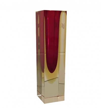 Murano Glass Vase by Flavio Poli for Seguso, Italy 1960s
