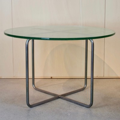 Chrome & glass coffee table by Willem Hendrik Gispen, 1941