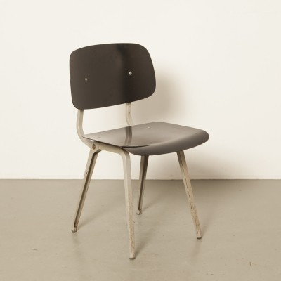 Original Revolt chair by Friso Kramer for Ahrend in black with grey frame