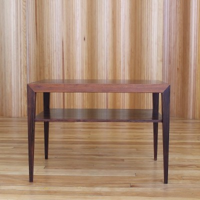 Severin Hansen rosewood two tier side table by Haslev Denmark