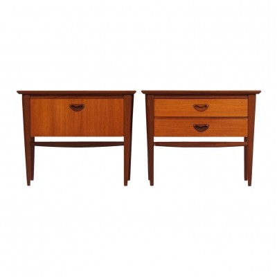 Set Teak Nightstands by Louis van Teeffelen for Wébé, 1960s