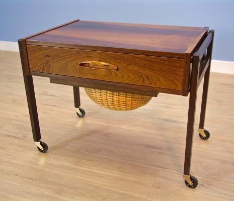 Danish sewing table in rosewood, 1960s