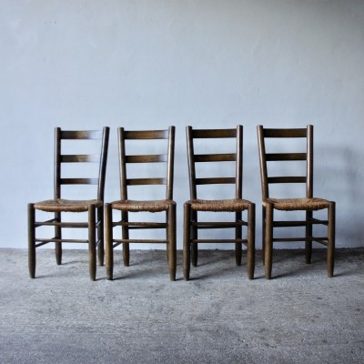 Set of 4 Charlotte Perriand Number 19 Dining Chairs