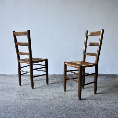 Pair Of Charlotte Perriand Number 19 Dining Chairs
