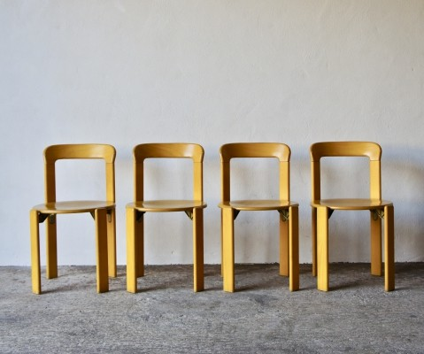 Set of 4 Bruno Rey Dining Chairs, 1970's