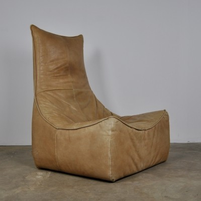 Leather 'Rock' Lounge Chair by Gerard van den Berg for Montis, 1970s