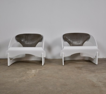 Pair of Armchairs by Joe Colombo for Kartell, 1964