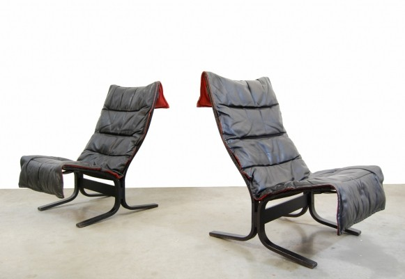 Vintage siësta lounge chairs by Ingmar Relling for Westnofa, 1970s