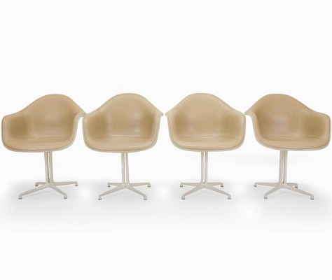 Set of 4 Eames Herman Miller DAL Armchairs