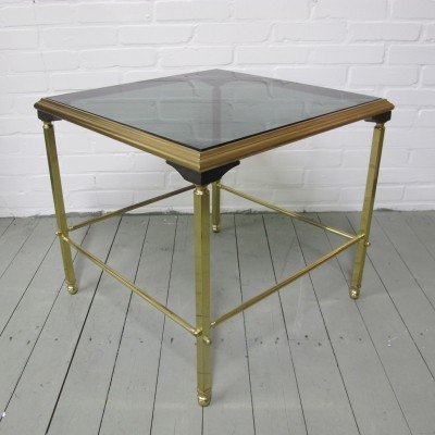 Vintage Luxurious glass & Brass Side Table, 1970s