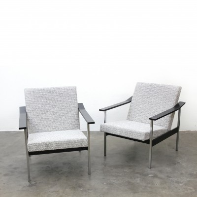 2 x Model 1424 arm chair by André Cordemeyer for Gispen, 1960s