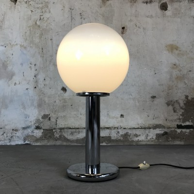 Mid-Century Modern Targetti desk Lamp with Chrome & Murano Glass, 1970s
