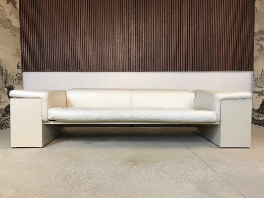 Brigadier Three-Seater Leather Sofa by Cini Boeri for Gavina / Knoll Int. 1970s