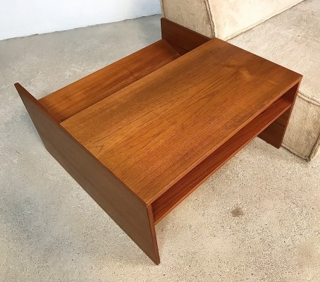 Scandinavian Modular Teak Side Table & Magazine Rack, 1960s
