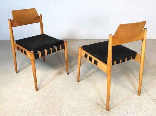Pair of German SE 119 Chairs by Egon Eiermann for Wilde+Spieth, 1950s