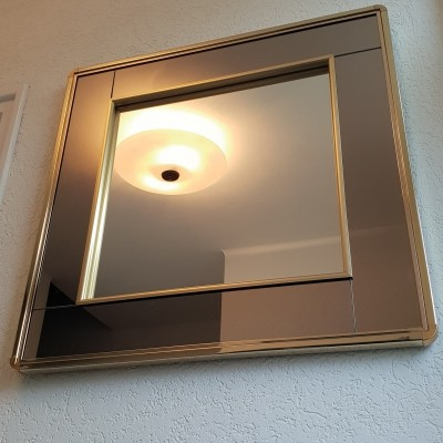 Gold plated mirror by Belgo Chrom with smoked & clear mirror glass