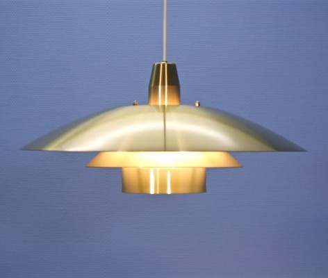 Large Danish pendant in brass, 1970s