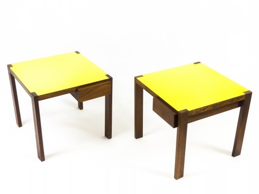 Pair of Side Tables by Edoardo Gellner for Fantoni, 1950s