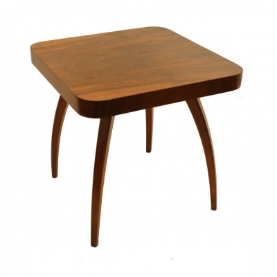 Walnut spider table by Jindrich Halabala
