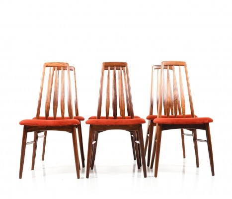 Set of Six rosewood 'Eva' Dining Chairs by Niels Koefoed
