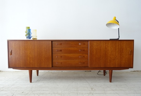 Sideboard in teak with two sliding doors & four drawers, Denmark 1960s