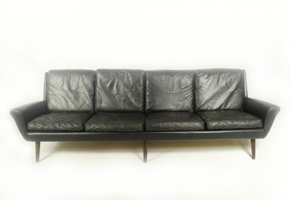Vintage Leather 4 seater Sofa, 1960s