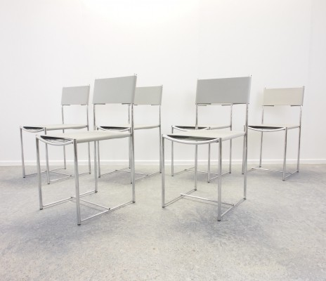 Set of 6 Italian design 'Spaghetti 101' chairs by Giandomenico Belotti for Alias