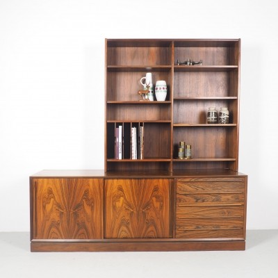 Danish design HP Hansen rosewood sideboard with bookcase, 1950's