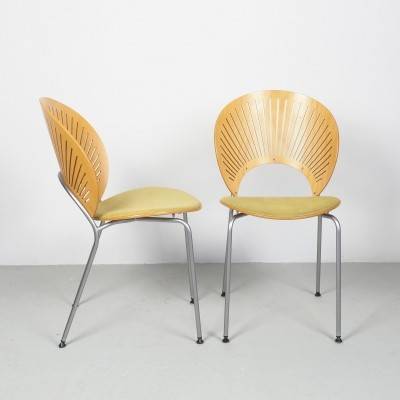 Set of 2 Nanna Ditzel Trinidad chairs, 1993