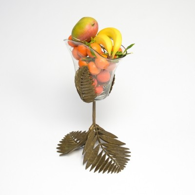 Brass Palm Leaves Vase