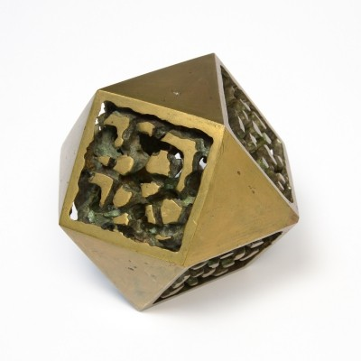 Abstract Polygonal Bronze Sculpture