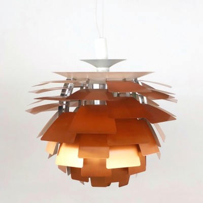 Artichoke chandelier by Louis Poulsen in copper