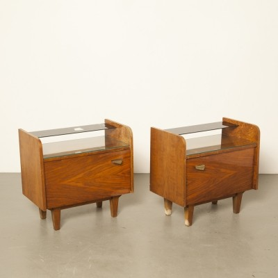 Set of two nightstands / bedside cabinets