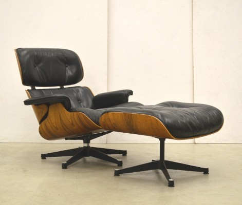 Perfect Eames Lounge Chair & Ottoman by Herman Miller, 1970s